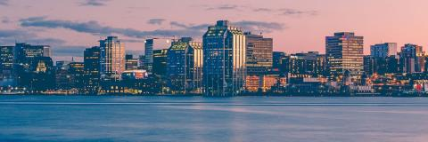 Halifax downtown at sunset